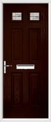 4 Panel 2 Square Composite Door regal corenet glass