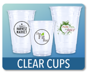 Clear Plastic Drinking Cups Printed