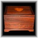 Bolivian rosewood jewelry box