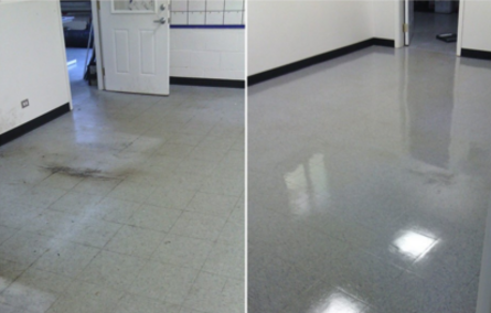 Floor cleaned in Taunton, MA.