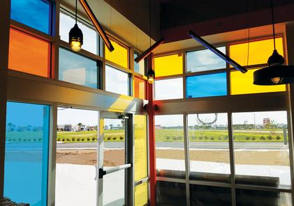 Solar Graphics Decorative Colored Window Films