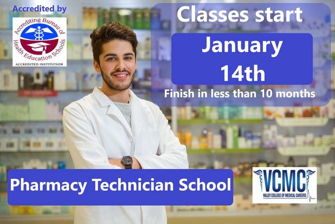 Become a pharmacy technician in less than 10 months