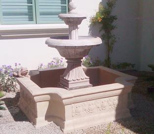 Ancient Stone Fountains, Water Features, and Planters