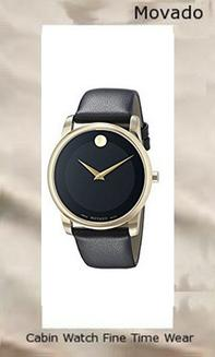 Product specifications Watch Information Brand, Seller, or Collection Name Movado Model number 0606876 Part Number 0606876 Model Year 2011 Item Shape Round Dial window material type Synthetic sapphire Display Type Analog Clasp Buckle Case material Gold tone Case diameter 40 millimeters Case Thickness 13 millimeters Band Material leather calfskin Band length Men's Standard Band width 22 millimeters Band Color Black Dial color Black Bezel material Gold tone Bezel function Stationary Special features black Dial Item weight 1.76 Ounces Movement Swiss quartz Water resistant depth 99 Feet