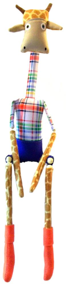 handmade giraffe dolls, giraffe toys, marionette, nursery decor, Twig Kids, folk art