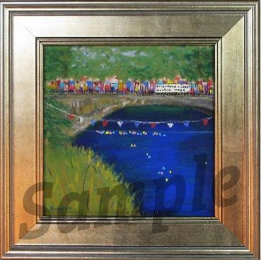 "We are now offering a special gift; an 8 x 8 print of ""The Big Race"" painted by Cranford's own Susan Knasko (unframed for a $50 donation and framed for a $100 donation). ​​​​"