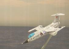 flyable 3D paper airplane of Cold War aircraft.