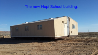 Hopi School building before it's set in place