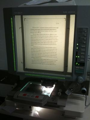 Image of a Microfiche reader