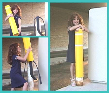 Installing a Post Guard Bollard Cover is easy - even a 5-year old can do it