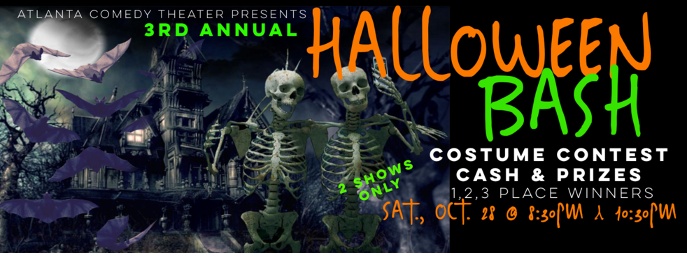 halloween party, costume contest, uptown comedy, laughing skull, punchline comedy atlanta halloween