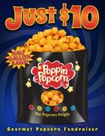 Just $10 Popcorn fundraising brochure