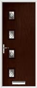 4 Square Composite Door fusion glass