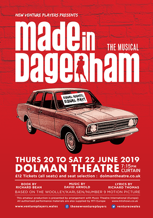 Click to book tickets for Made in Dagenham the musical via the Dolman Theatre website