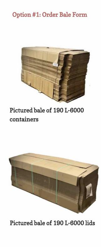 bale of L6000 containers, 190-Quantity