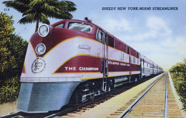 The Atlantic Coast Line Champion streamliner.