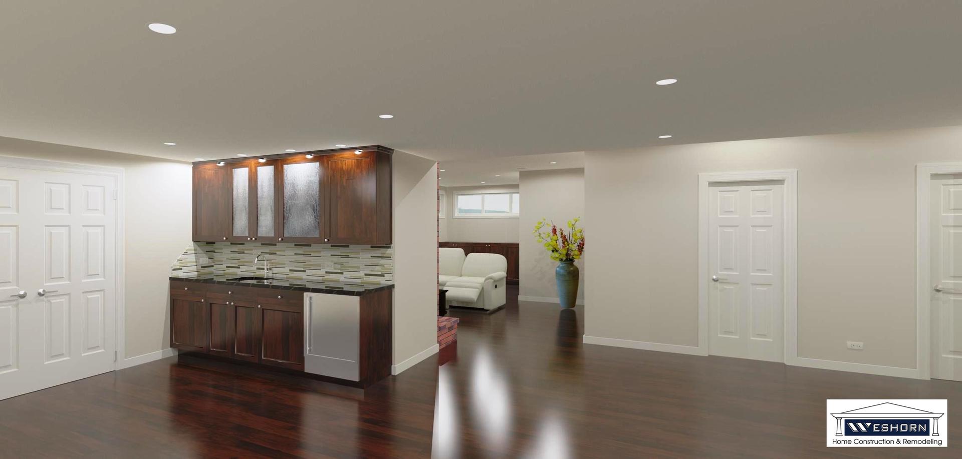 Basement Finishing Design basement remodeling, finishing design - weshorn basement remodelers