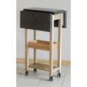 Ambrosia maple rolling kitchen cart