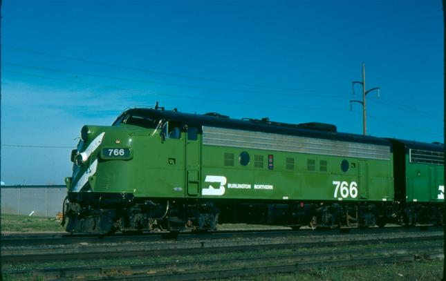 Burlington Northern EMD F9 #766.