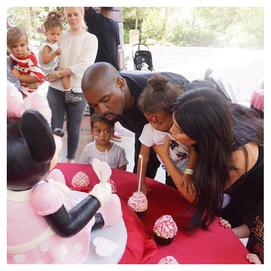 Kim Kardashian and Kanye West Birthday Cake Hansen's Cakes Los Angeles Bakery