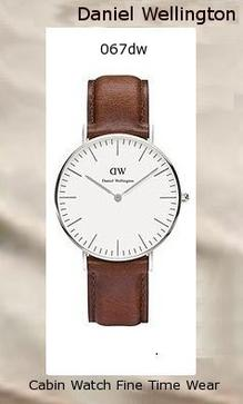 Product Specifications Watch Information Brand, Seller, or Collection Name Daniel Wellington Model number 0607DW Part Number DW00100052 Model Year 2014 Item Shape Round Dial window material type Mineral Display Type Analog Clasp Buckle Case material Stainless steel Case diameter 36 millimeters Case Thickness 6 millimeters Band Material leather calfskin Band length Women's Standard Band width 17 millimeters Band Color Brown Dial color White Bezel material Stainless steel Bezel function Stationary Calendar Date Special features Two hand Item weight 2.40 Ounces Movement Quartz Water resistant depth 99 Feet,daniel wellington