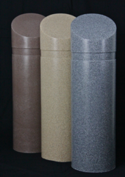 Brown-Tan-Grey Granite Style Bollard Covers