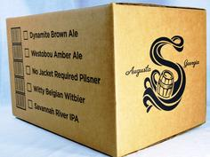 Beer case box back panel print