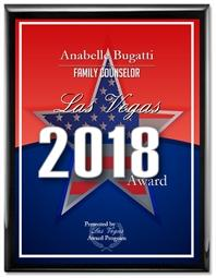 Anabelle Bugatti Best Family Counselor Las Vegas 2018 Award