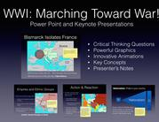 WWI Marching Toward War PowerPoint