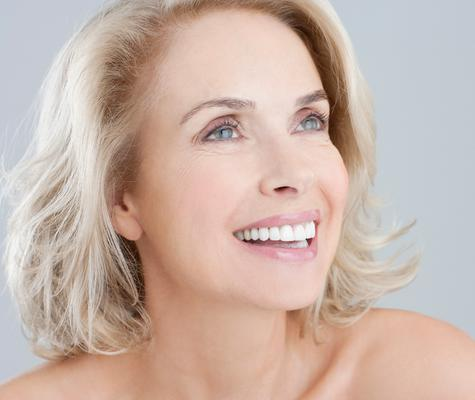 Woman who has received anti-aging dentistry in Beverly Hills, CA