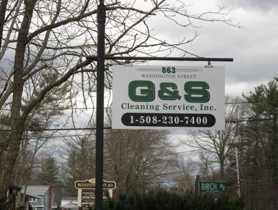 G and S Cleaning road sign.