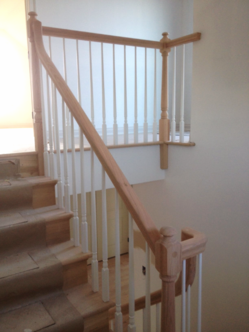Straight Wood Staircase