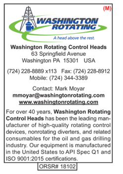 Washington Rotating Control Heads, Rotating Control Devices