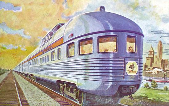 The observation car of the Chesapeake and Ohio train The Chessie, circa 1944.