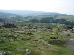 Hound Tor on Dartmoor which features in The Legacy