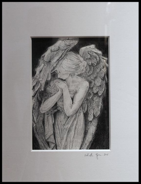 Berlin Angerl.Original charcoal and pencil drawing. Orfhlaith Egan Irish Artist based in Berlin. Private collection Memmingen Germany.