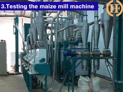 testing, commissioning maize flour milling after sale