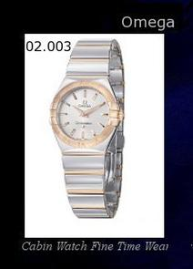 Watch Information Brand, Seller, or Collection Name Omega Model number 123.20.27.60.02.003 Part Number 123.20.27.60.02.003 Item Shape Round Dial window material type Anti reflective sapphire Display Type Analog Clasp Deployment clasp with push-button Case material Stainless steel Case diameter 28 millimeters Case Thickness 9 millimeters Band Material Stainless steel Band length Women's Standard Band width 17 millimeters Band Color Silver Dial color Silver Bezel material Metal Bezel function Stationary Special features Luminous Item weight 15.84 Ounces Movement Quartz Water resistant depth 330 Feet