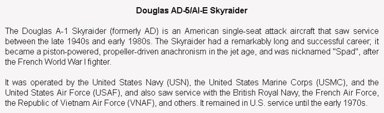 wiki background for 4D model of Douglas A-1 Skyraider