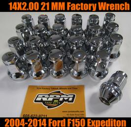 ford 14x2.0 chrome lug nuts