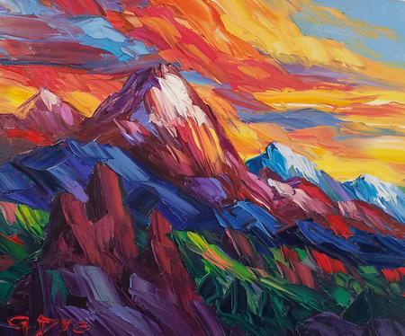 The Natural Accents Gallery of Taos, Exhibiting the works of Artist Greg Dye