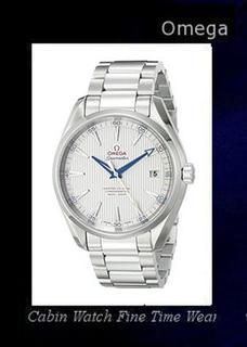 Product specifications Watch Information Brand, Seller, or Collection Name Omega Model number 23110422102004 Part Number 23110422102004 Item Shape Round Dial window material type Anti reflective sapphire Display Type Analog Clasp deployant-clasp-with-push-button Case material Stainless steel Case diameter 41.5 millimeters Case Thickness 11 millimeters Band Material Stainless steel Band length Men's Standard Band width 18 millimeters Band Color Silver Dial color Silver Bezel material Stainless steel Bezel function Stationary Calendar Date Special features Luminous Item weight 15.84 Ounces Movement Swiss automatic Water resistant depth 500 Feet