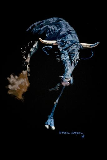 Mad Cow...Pastel...12x10...$1,100.00