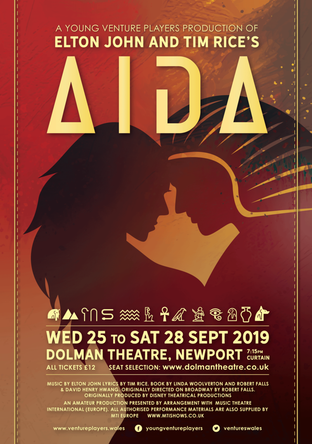 Click to book tickets for Aida via the Dolman Theatre website