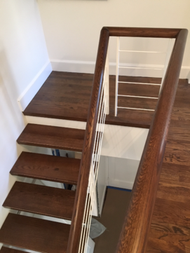Contemporary Railings Wood Stairs