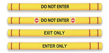 Entry and exit information on clearance bars