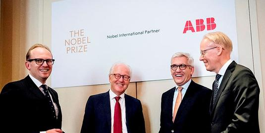 ABB, NOBEL MEDIA, NOBEL INTERNATIONAL PARTNER, INNOVACIÓN, PREMIO NOBEL