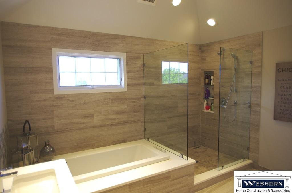 kitchen bathroom design. Remodeled Master Bathroom We Create Custom Showers any size or shape Kitchen Design Remodeling Basement Finishing  Weshorn