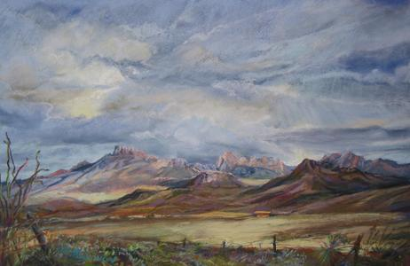 Coming Storm, award winning pastel landscape painting by Lindy Cook Severns