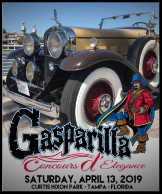 Gasparilla Concours DElegance Tampa FL April - Classic car show tampa fl